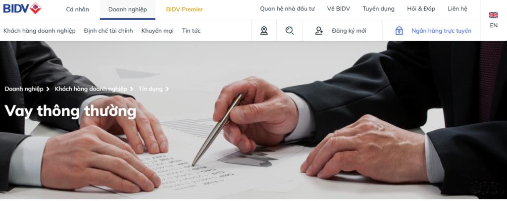 Gói vay vốn thông thường của BIDV