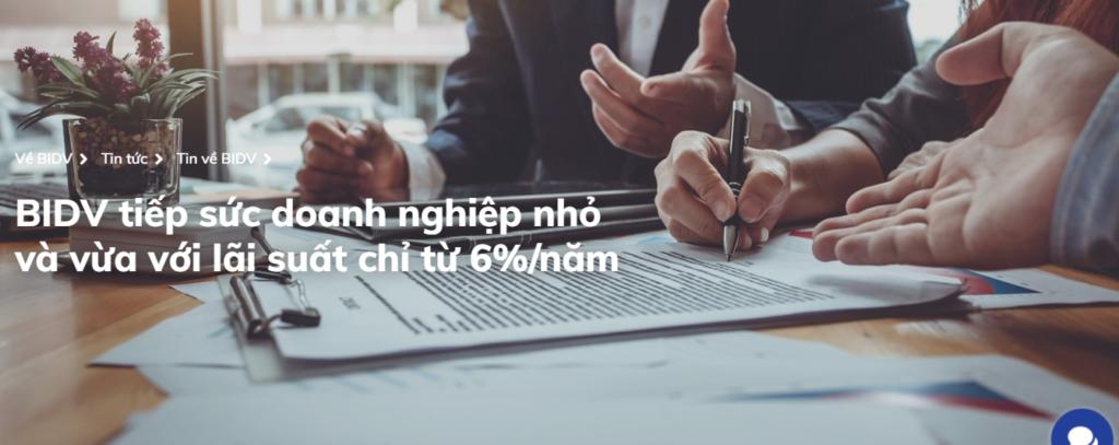 Doanh nghiệp có thể tiếp cận gói vay lãi suất chỉ từ 6%/năm của BIDV