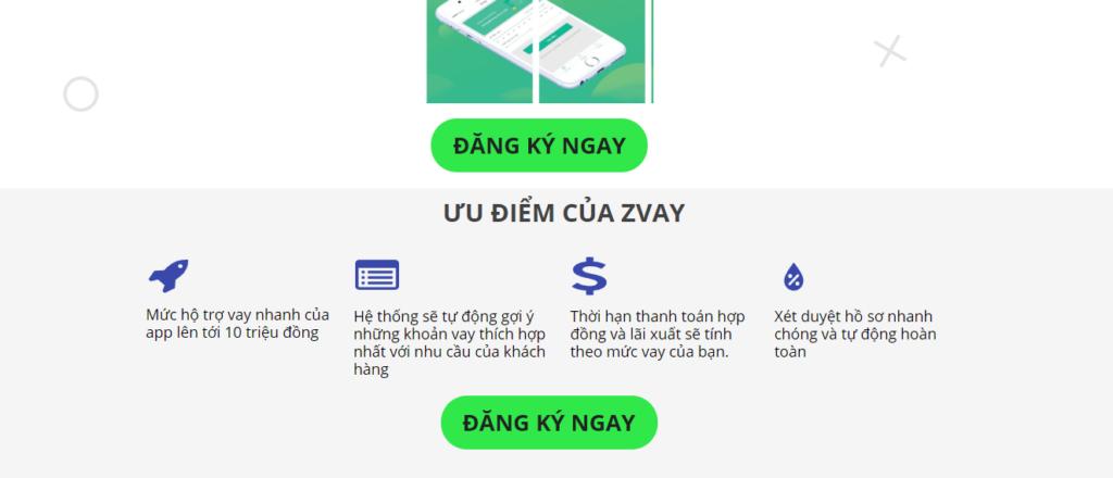Cách thức vận hành và hạn mức vay hoàn toàn khác so với Zvay trên ứng dụng chính thức