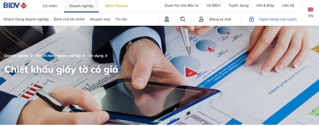 Gói vay chiết khấu giấy tờ có giá của BIDV