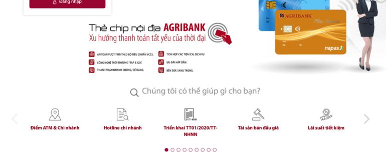 kiểm tra số tài khoản Agribank