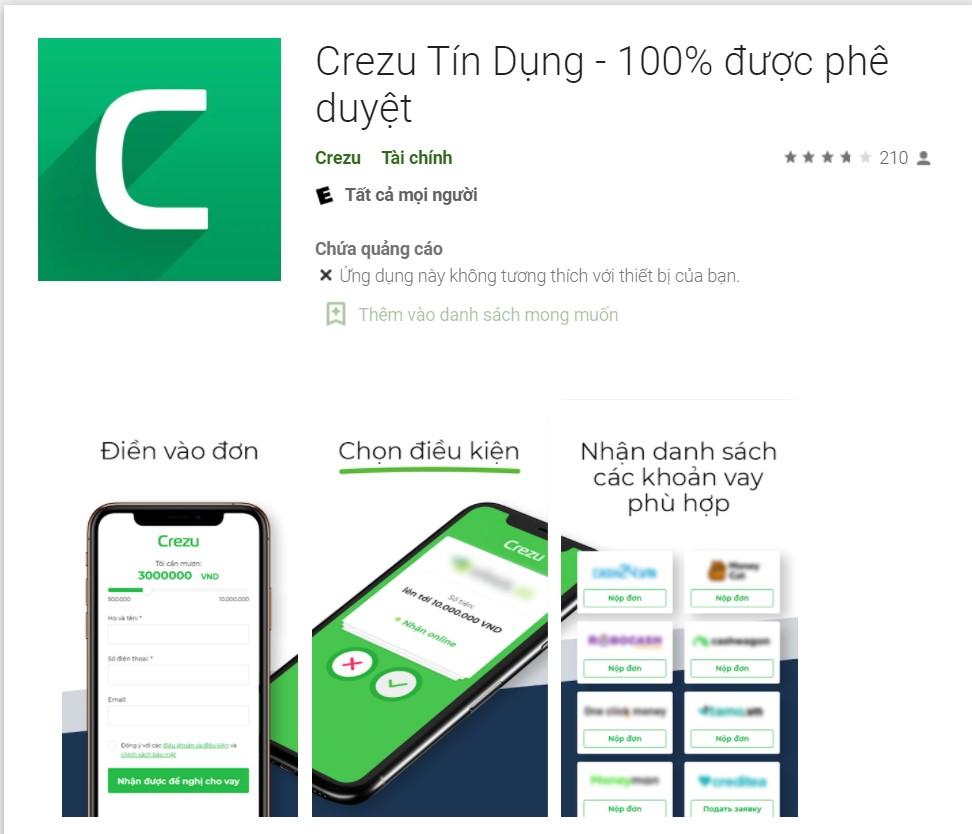 Bạn có thể sử dụng dịch vụ online của Crezu qua website hoặc qua ứng dụng điện thoại