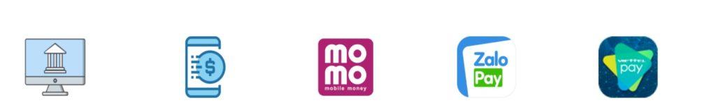 ATM Online chấp nhận nhiều hình thức thanh toán khác nhau